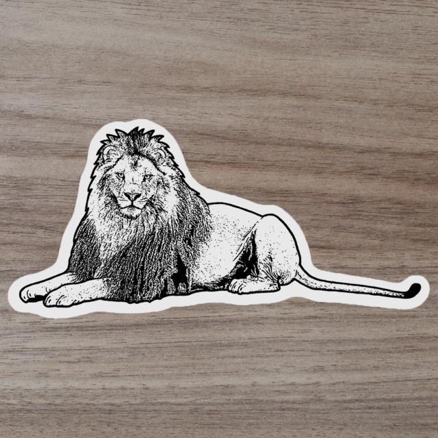 ミニステッカー ライオン