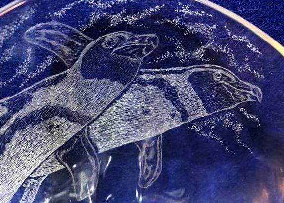 【いきもーる限定販売】 グラス(大) 空飛ぶペンギン