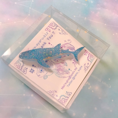 ジンベイザメのピンバッジ
