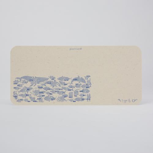 いきもじ魚偏変形ポストカード
