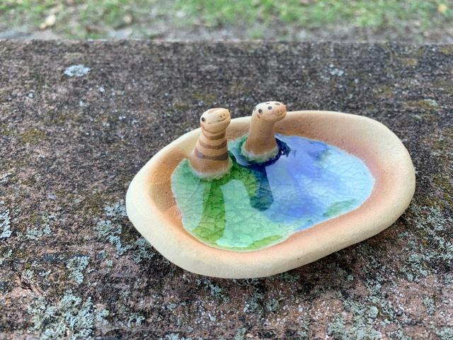 水浴び皿 チンアナゴ、ニシキアナゴ 1