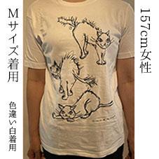 Sha-Fu-U-猫Tシャツ グレー