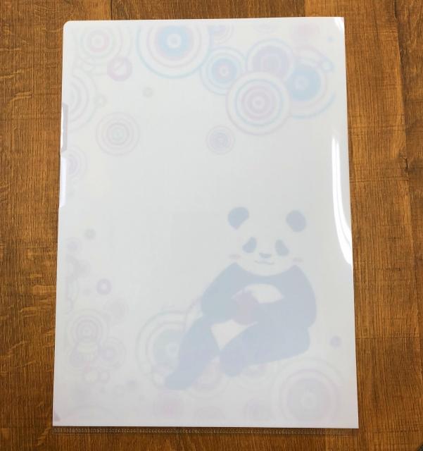 パンダのクリアファイル リンゴ編