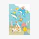 つながるポストカード 3枚セット(BIRDAQUARIUM)
