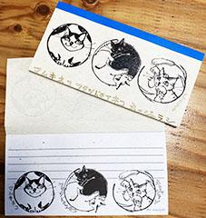 「猫家紋風イラスト」の一筆箋