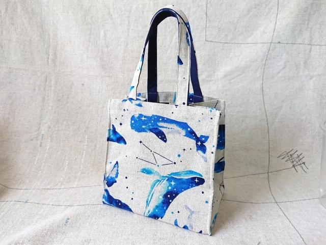 【いきもーる限定販売】 Take out Bag / くじら(blue)