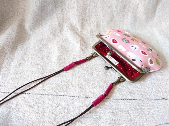 【いきもーる限定販売】 さげがまぐち(S) / 文鳥(pink)