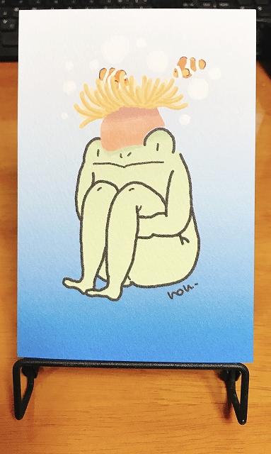 イソギンチャクたかしとクマノミ ポストカード