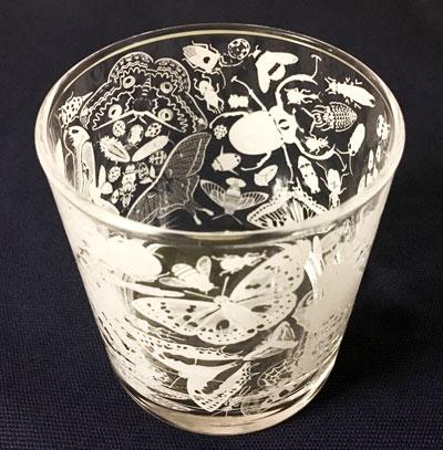 日本の昆虫ロックグラス
