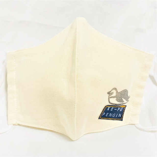 ポケット付きいきものマスク(3枚仕立て&不織布フィルター付き)ケープペンギン
