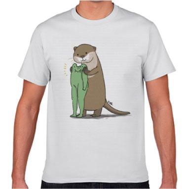 【いきもーる限定販売】コツメカワウソとたかし Tシャツ