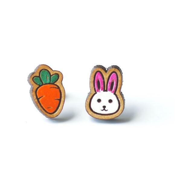 ウサギ イヤリング