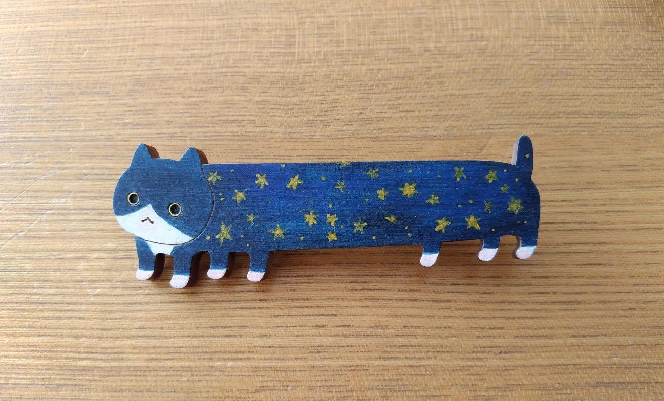 【いきもーる限定販売】LongLongパノラマ猫(星屑ハチワレ)