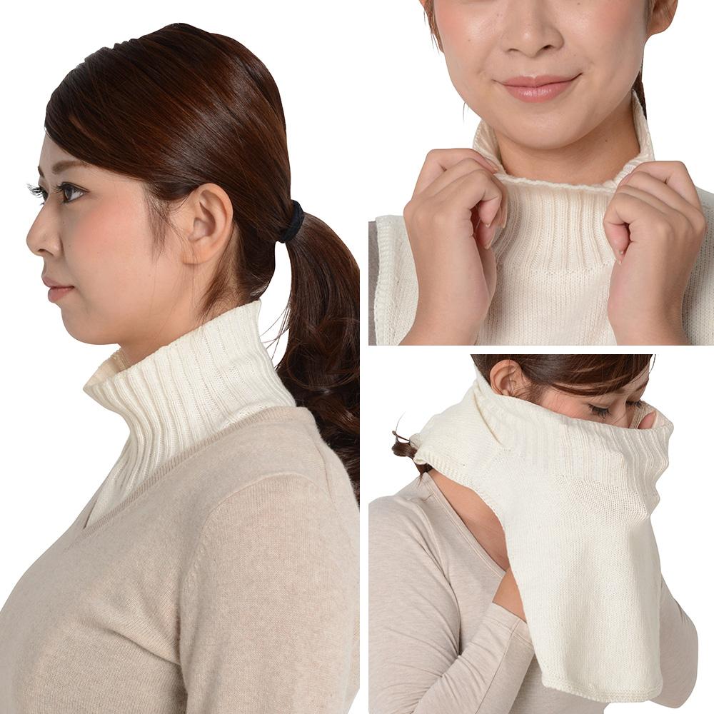 ■【リブリブリ】リブリブリ肩付きネックウォーマー オーガニックコットン100% *0622