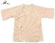 【オーガニックガーデン】太めのボーダーがかわいい天竺 短肌着(前ひもタイプ)オーガニックコットン100%