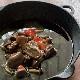 合鴨の肝肉とキノコのアヒージョ