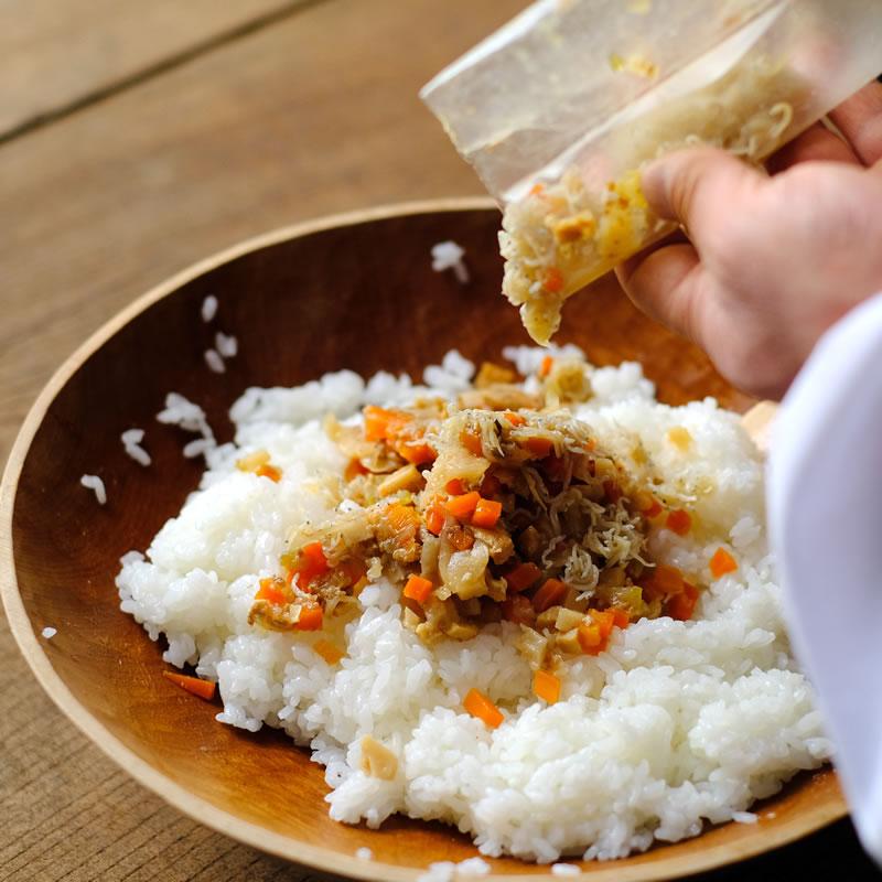 秋のちらし寿司の素
