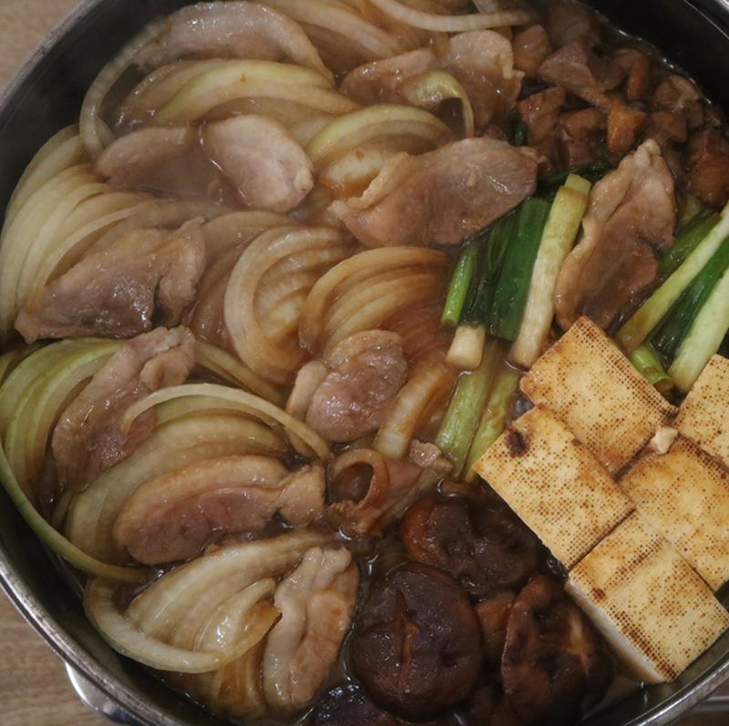 合鴨の味噌すき焼きセット(2人前)【冷凍 賞味期限60日】
