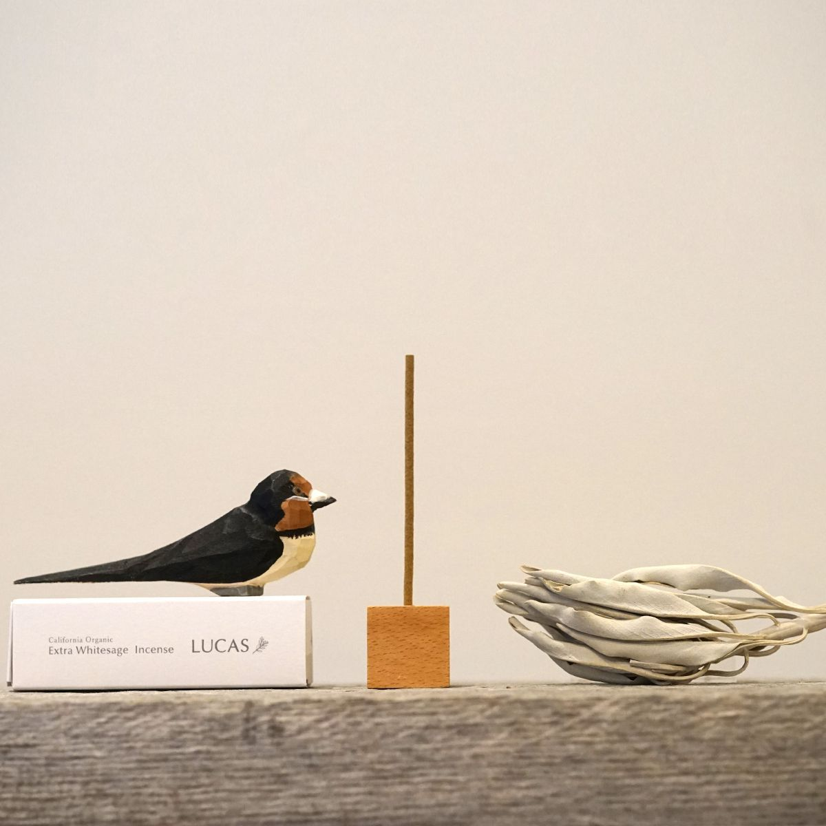 エクストラ・ホワイトセージ インセンス 浄化香 【スティックタイプ】 (天然成分100% & 日本製) LUCAS ルカス [送料無料]