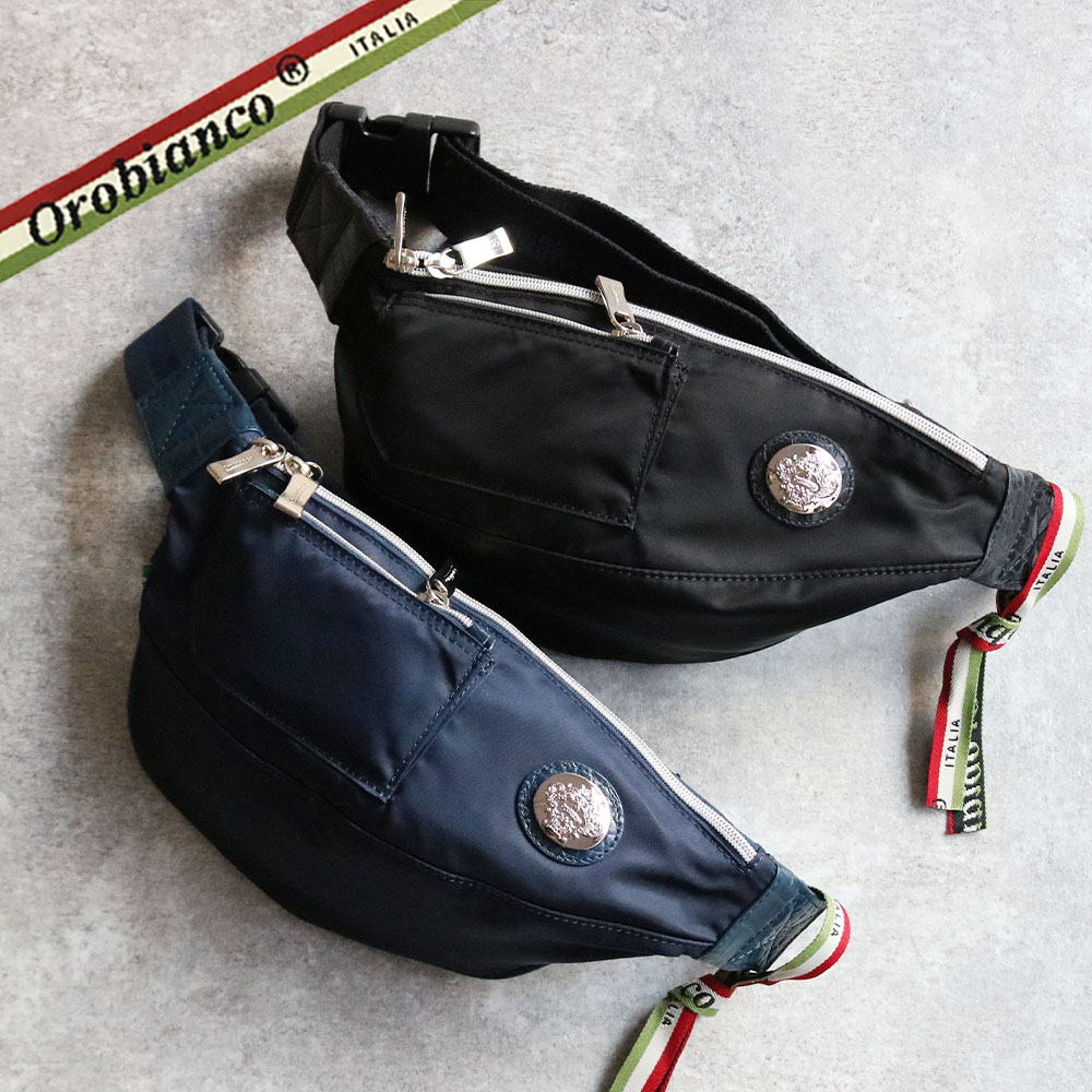 OROBIANCO GOCCIA-C NYLON COCCO-LUCIDO [イタリア製] ボディバッグ