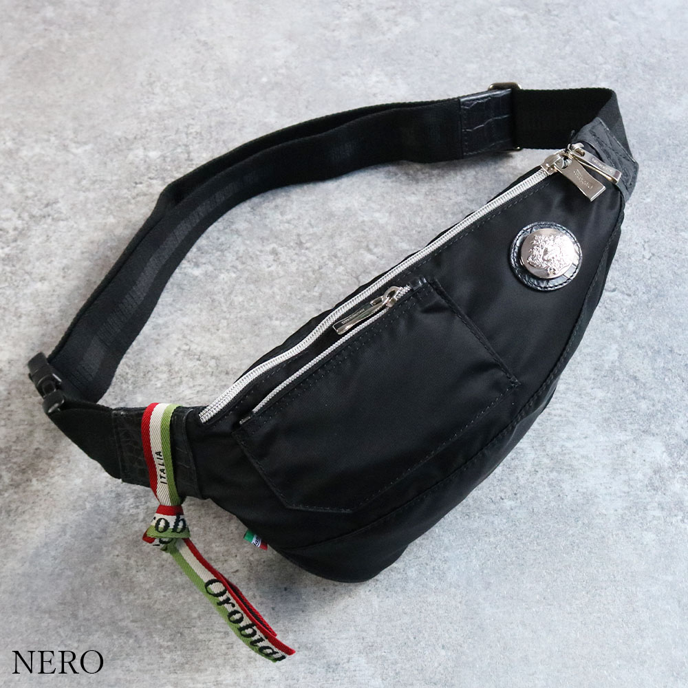 OROBIANCO GOCCIA-C NYLON COCCO-LUCIDO 並行輸入品 [イタリア製] ボディバッグ
