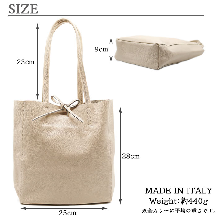 [3color]andrea cardone 2065/D Leather bag M [イタリア製] トートバッグ-M