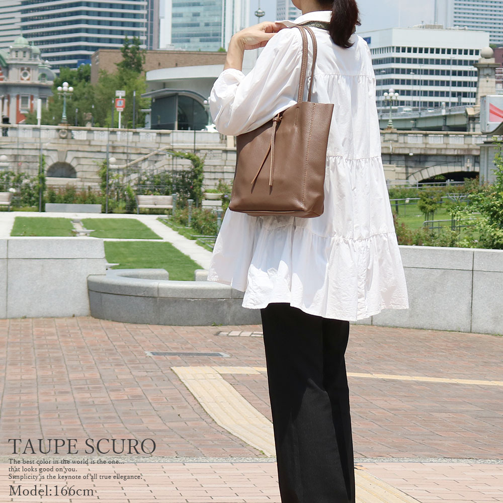 [2color]andrea cardone 2065/D Leather bag M [イタリア製] トートバッグ-M