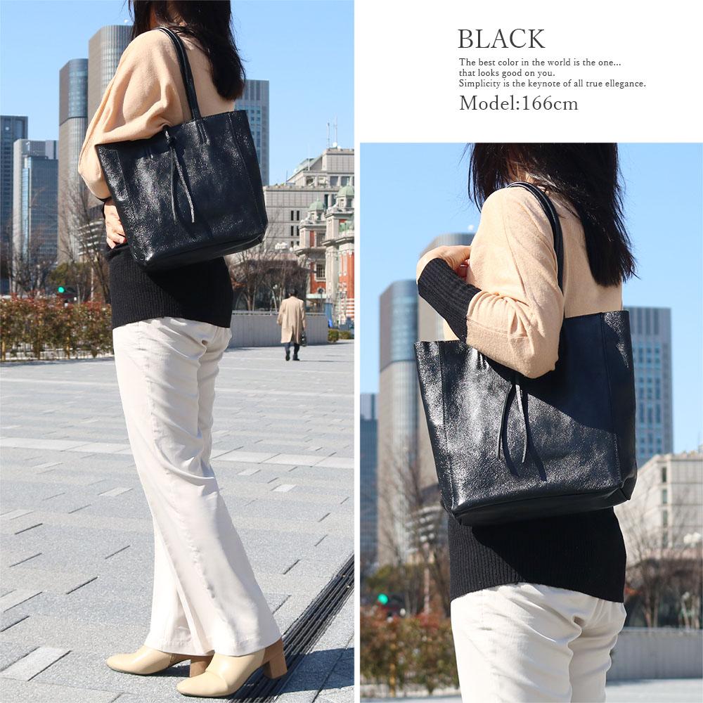 [3Colors][ファスナー付き] andrea cardone 2065/m1 Leather bag sfoderata metal M 並行輸入品 [イタリア製] トートバッグ-M