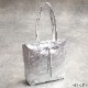 [ファスナー開閉]andrea cardone 2065/m1 Leather bag sfoderata metal M [イタリア製] トートバッグ-M