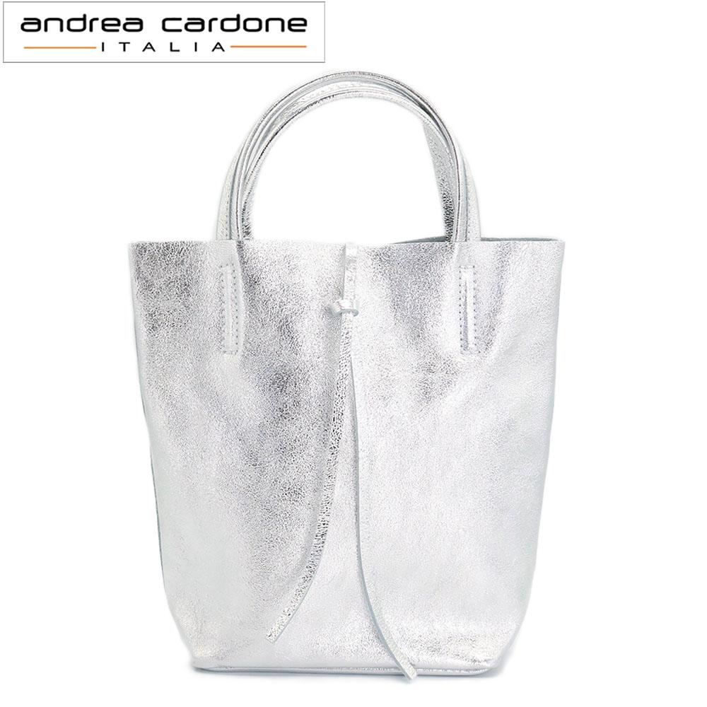 [訳ありアウトレット][andrea cardone 1083M アンドレアカルド-ネ ミニバッグ 2way [シルバー]