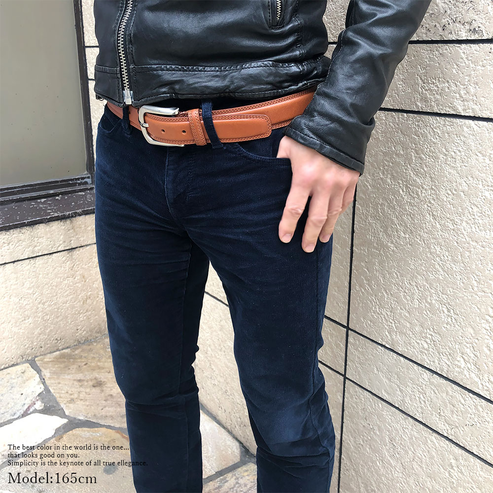 [3Color]OROBIANCO BELT COWHIDE TEDDO [イタリア製] ベルト