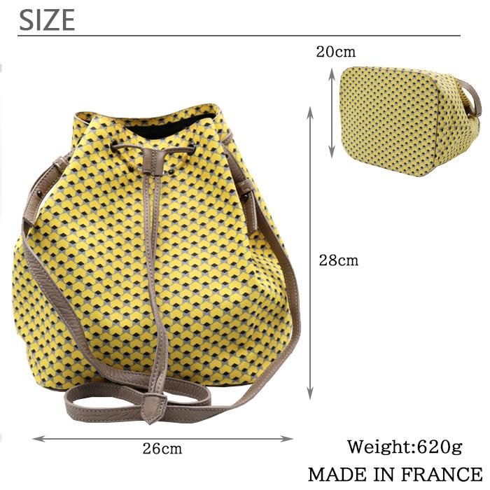 [3Color]VERDINO Hexagone Bucket [フランス製] ショルダー 肩掛け