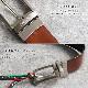 [2way]OROBIANCO BELT COWHIDE IGOR D.FACE NERO/COGNAC [イタリア製] ベルト
