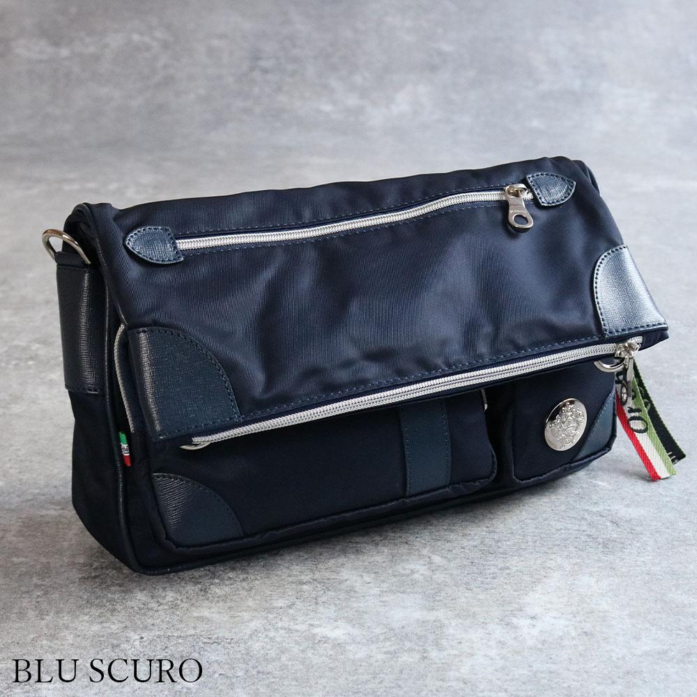 OROBIANCO CAMELOT-B NYLON SAFFIANO [イタリア製] ショルダーバッグ