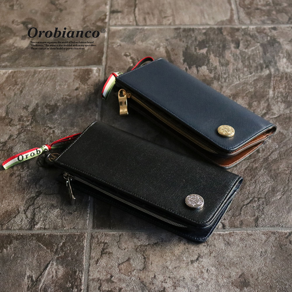[別注モデル]OROBIANCO GIRAFFA RI-F SAFFIANO OLI-ZEUS[イタリア製] 長財布