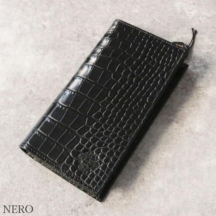 OROBIANCO FIDANZIO-I COCOLONO-LUCIDO DOLLARO-SOFT [イタリア製] 長財布 クロコ調型押し