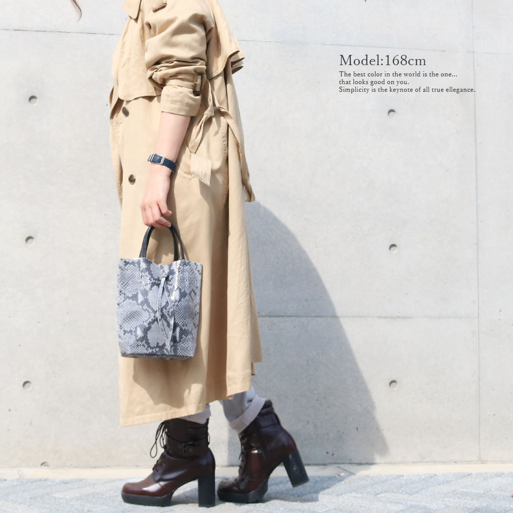 [2color][Sale]andrea cardone 1083 Leather bag XS Python pattern [イタリア製] 2wayショルダー付き ハンドバッグ-XS