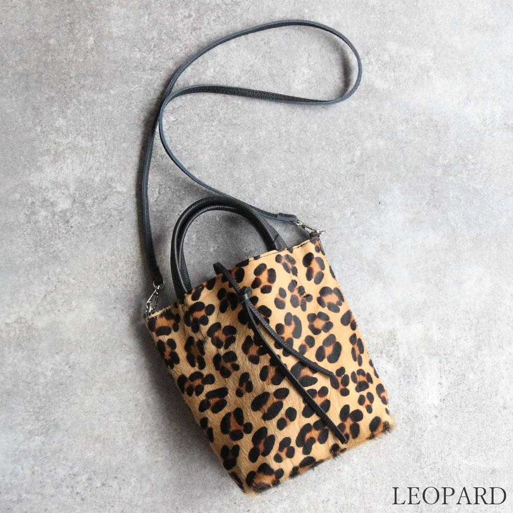 【10月中旬再入荷】 【限定カラー】 andorea cardone 1083-leopard-leather 並行輸入品 [イタリア製] 2wayショルダー付き ハンドバッグ-XS