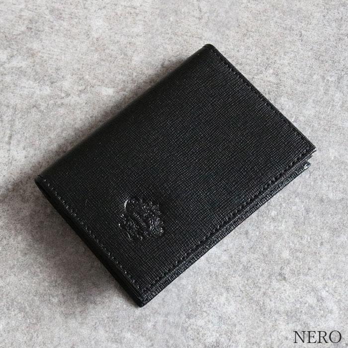 [3Color]OROBIANCO FIGARO SAFFIANO [イタリア製] 名刺入れ