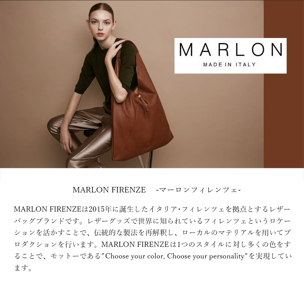 MARLON BS1102 BORSA ART MINI HENRY MAXI COCCO LAMITATO [イタリア製] クロコ ハンドバッグ ポーチ付き [2way] 3Color