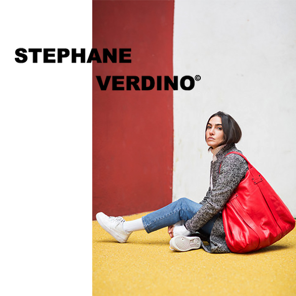 STEPHANE VERDINO [正規品] MOUSSE CABAS-XL (Rosso/レッド) トートバッグ 本革 XL