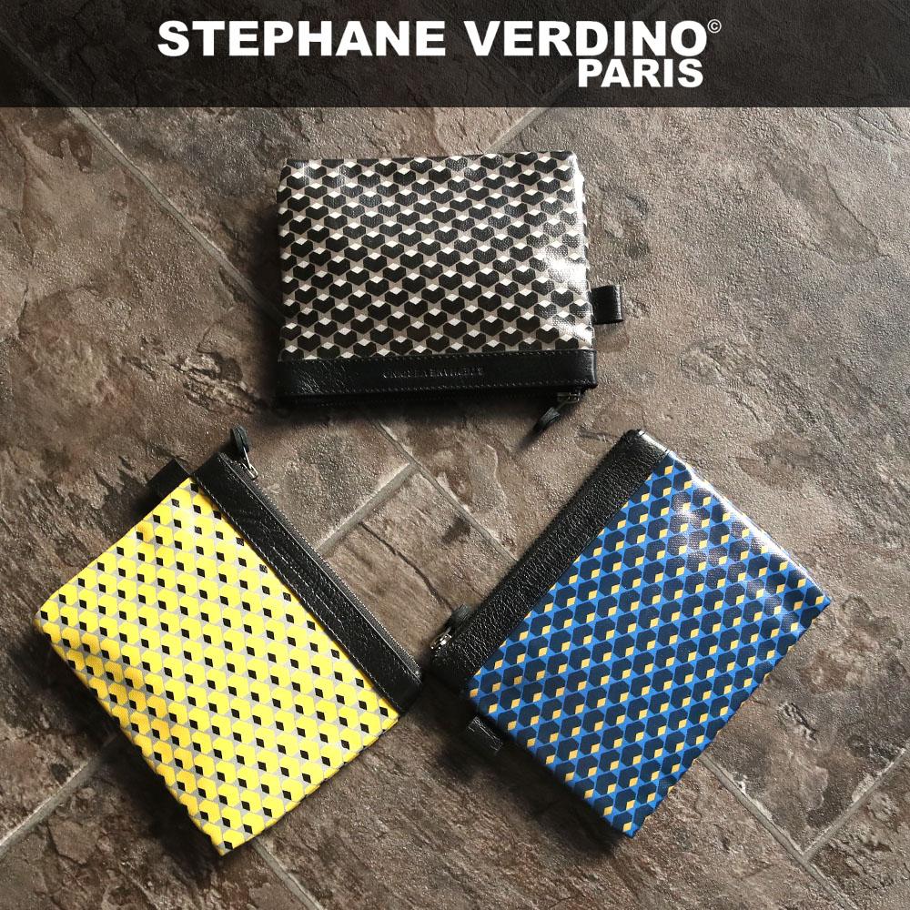 STEPHANE VERDINO HEXAGONE POCHETTE-M [フランス製] ポーチ M 六角形柄 幾何学模様