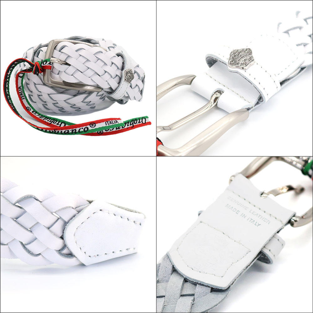 [4Color]OROBIANCO BELT COWHIDE OSCAR [イタリア製] ベルト