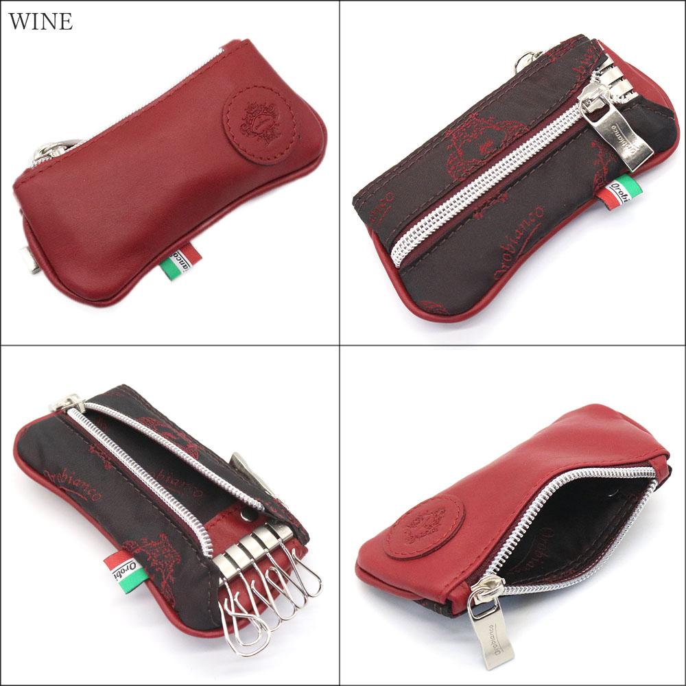 OROBIANCO PORTALE 11-N CORONA VITELLO [イタリア製] 6連キーケース