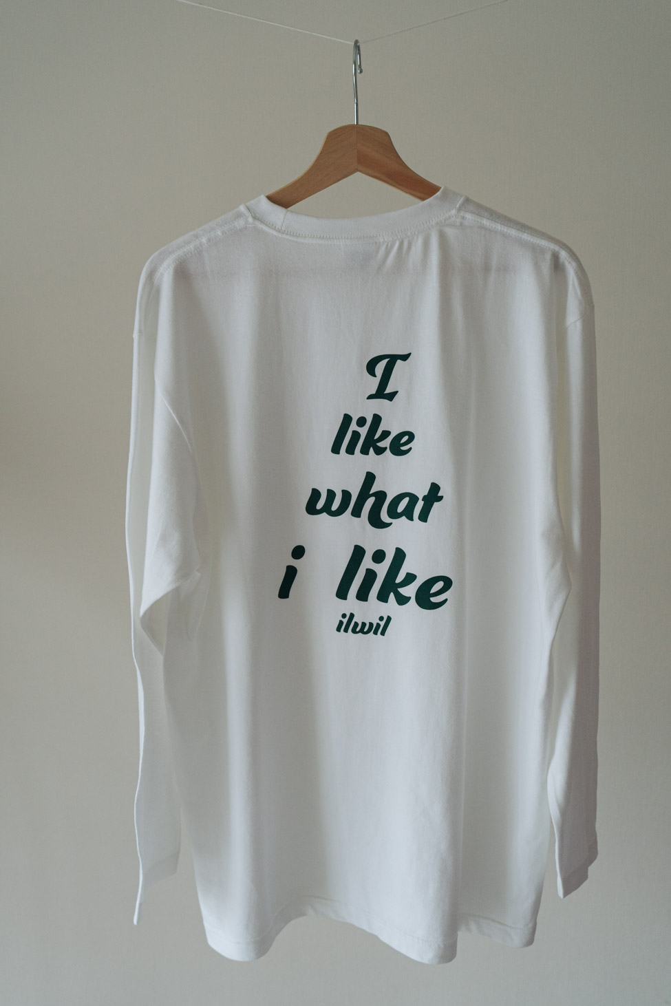 Logo long t-shirt(unisex)