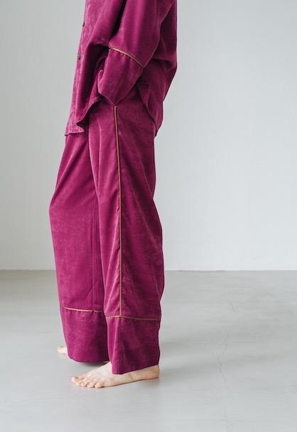 Vintage Satin Pajamas Bottoms パープルピンク