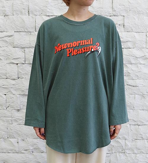 【kha:ki/カーキ】ヘムラウンドピグメントオーバーダイティーシャツ