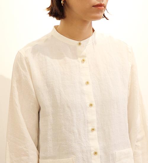 【YARRA/ヤラ】前開きリネンチュニックシャツ