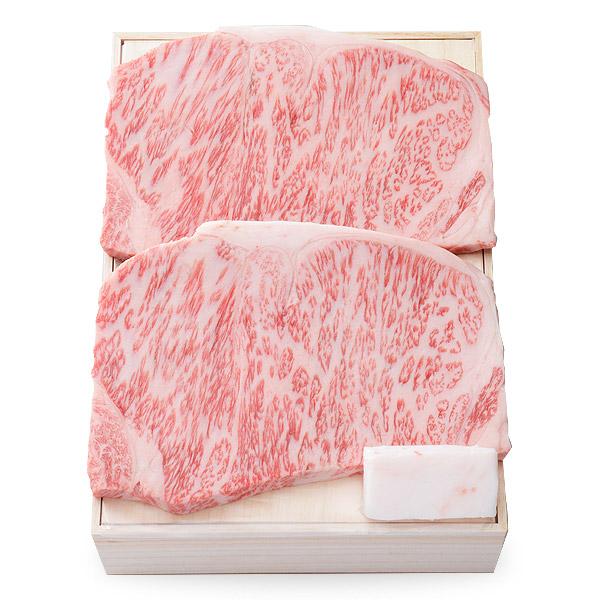 (OKST-86)【特撰】黒毛和牛ロースステーキ (ロース) 200g×2枚 [化粧箱入り]【冷蔵便】