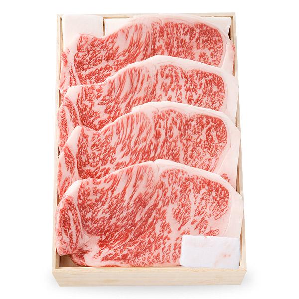 (OKST-168)【特撰】黒毛和牛ロースステーキ (ロース) 200g×4枚 [化粧箱入り]【冷蔵便】